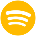 Spotify icon, music, Audio, audio streaming Orange icon