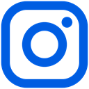 media, network, new, Logo, Social, Instagram, square icon RoyalBlue icon