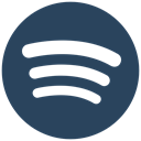 Spotify icon, music, Audio, audio streaming DarkSlateGray icon