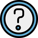 help, question, question mark, Faq, button, ui, signs, Shapes And Symbols WhiteSmoke icon