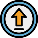 Arrows, upload, outbox, interface, Direction, ui, up arrow, uploading, Multimedia Option WhiteSmoke icon