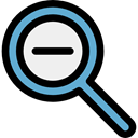 search, magnifying glass, zoom, detective, ui, Loupe, Zoom out Black icon