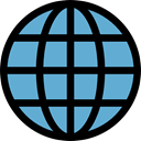Globe Grid, Multimedia, interface, ui, worldwide, internet, world, signs, Earth Globe, Earth Grid, Wireless Internet CornflowerBlue icon