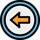 Arrows, Back, previous, interface, Direction, ui, directional, Multimedia Option WhiteSmoke icon