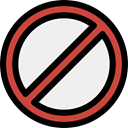 cancel, forbidden, shapes, symbol, prohibition, signs, Signaling WhiteSmoke icon