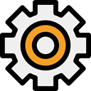 settings, configuration, ui, Gear, cogwheel, Tools And Utensils WhiteSmoke icon