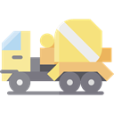 transportation, truck, transport, vehicle, Automobile, Construction And Tools Khaki icon