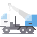 Construction And Tools, transport, mechanic, Crane, transportation, truck, garage, Trucks, Cranes Black icon