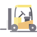 Fork, transportation, truck, Forklift, Industrial, Shipping And Delivery, transport, vehicle, lift Black icon