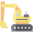transportation, transport, Construction, Excavator, Construction And Tools Khaki icon