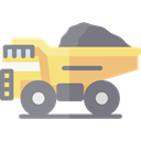 transportation, truck, transport, vehicle, Automobile, dump truck, Construction And Tools Gray icon