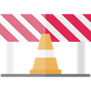 Caution, Construction, Barrier, Obstacle, Construction And Tools Black icon