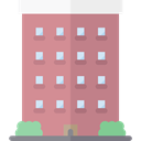 Apartments, real estate, residential, Architecture And City, buildings, Apartment, property RosyBrown icon
