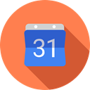 Administration, Organization, Calendars, Time And Date, Calendar, time, date, Schedule, interface Coral icon