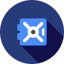 secure, security, private, Money, commerce, storage, privacy, vault DarkSlateBlue icon