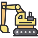 transportation, transport, Construction, Excavator, Construction And Tools DarkSlateGray icon