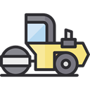 transport, vehicle, Construction, Road, steamroller, Construction And Tools DarkSlateGray icon