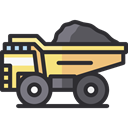 Construction And Tools, transportation, truck, transport, vehicle, Automobile, dump truck DarkSlateGray icon