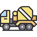 transportation, truck, transport, vehicle, Automobile, Construction And Tools DarkSlateGray icon