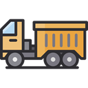Delivery, Cargo Truck, Construction And Tools, vehicle, Automobile, Delivery Truck, transportation, truck, transport DarkSlateGray icon