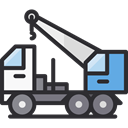Construction And Tools, garage, Trucks, Cranes, transportation, truck, transport, mechanic, Crane DarkSlateGray icon
