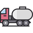 Delivery, transportation, transport, Construction, cargo, trucking, Tank Truck, Trucks, Construction And Tools DarkSlateGray icon