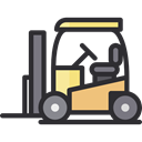 Fork, transportation, truck, transport, vehicle, lift, Forklift, Industrial, Shipping And Delivery DarkSlateGray icon