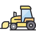 transportation, transport, vehicle, tractor, Farming, Construction And Tools Icon