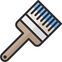 paint, paintbrush, repair, Brush, Construction, Painter, paint brush, Tools And Utensils, Construction And Tools Black icon