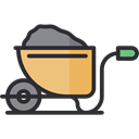 Wheelbarrow, gardening, Tools And Utensils, trolley, Construction And Tools, Farming And Gardening Black icon