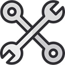 Construction, Construction And Tools, tools, work, Wrench DarkSlateGray icon