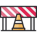 Caution, Construction, Barrier, Obstacle, Construction And Tools DarkSlateGray icon