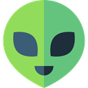 miscellaneous, Ufo, Avatar, Alien, space, galaxy, extraterrestrial YellowGreen icon