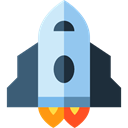 Business, Rocket, Rocket Ship, Rocket Launch, Spacecrafts, transportation, transport, spacecraft, Space Ship Black icon