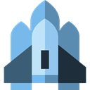 Business, Rocket, transportation, transport, spacecraft, Space Ship, Rocket Ship, Rocket Launch, Spacecrafts SkyBlue icon