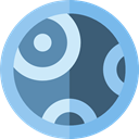 miscellaneous, science, education, Astronomy, planet, solar system SkyBlue icon