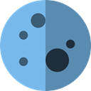 Moon Phase, nature, meteorology, Astronomy, full moon, miscellaneous, Moon, weather SkyBlue icon