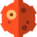 Meteorites, galaxy, Astronomy, Meteorite, Asteroids, miscellaneous, nature, space, universe Firebrick icon