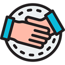 Business And Finance, Hands And Gestures, Agreement, deal, Handshake, Gestures Black icon