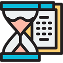 Clock, time, miscellaneous, Hourglass, waiting, time management, Tools And Utensils, Time And Date WhiteSmoke icon