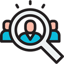 hiring, Loupe, Human resources, Seo And Web, search, magnifying glass, Business Black icon