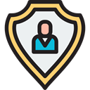 Protection, shield, insurance, Seo And Web, security, Business Black icon