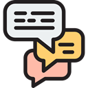 Multimedia, Chat, Communication, speech bubble, Conversation, Communications Black icon