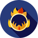 Fairground, Juggling, Ring Of Fire, Circus, Fun, carnival, entertainment DarkSlateBlue icon