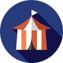 Entertaining, Circus, Tent, entertainment, leisure DarkSlateBlue icon