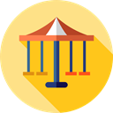 Circus, Fun, Carousel, carnival, entertainment, Amusement Park, Fairground Icon
