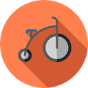 exercise, sports, Bike, Bicycle, cycling, sport, transportation, transport, vehicle Coral icon