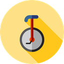 Fun, entertainment, Unicycle, tool, transportation, transport, Clown Khaki icon