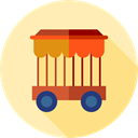 transportation, transport, wagon, Railway, entertainment, Railroad, Cage Moccasin icon