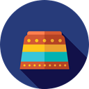 Podium, Amusement Park, Fairground, zoo, Fun, carnival, entertainment DarkSlateBlue icon